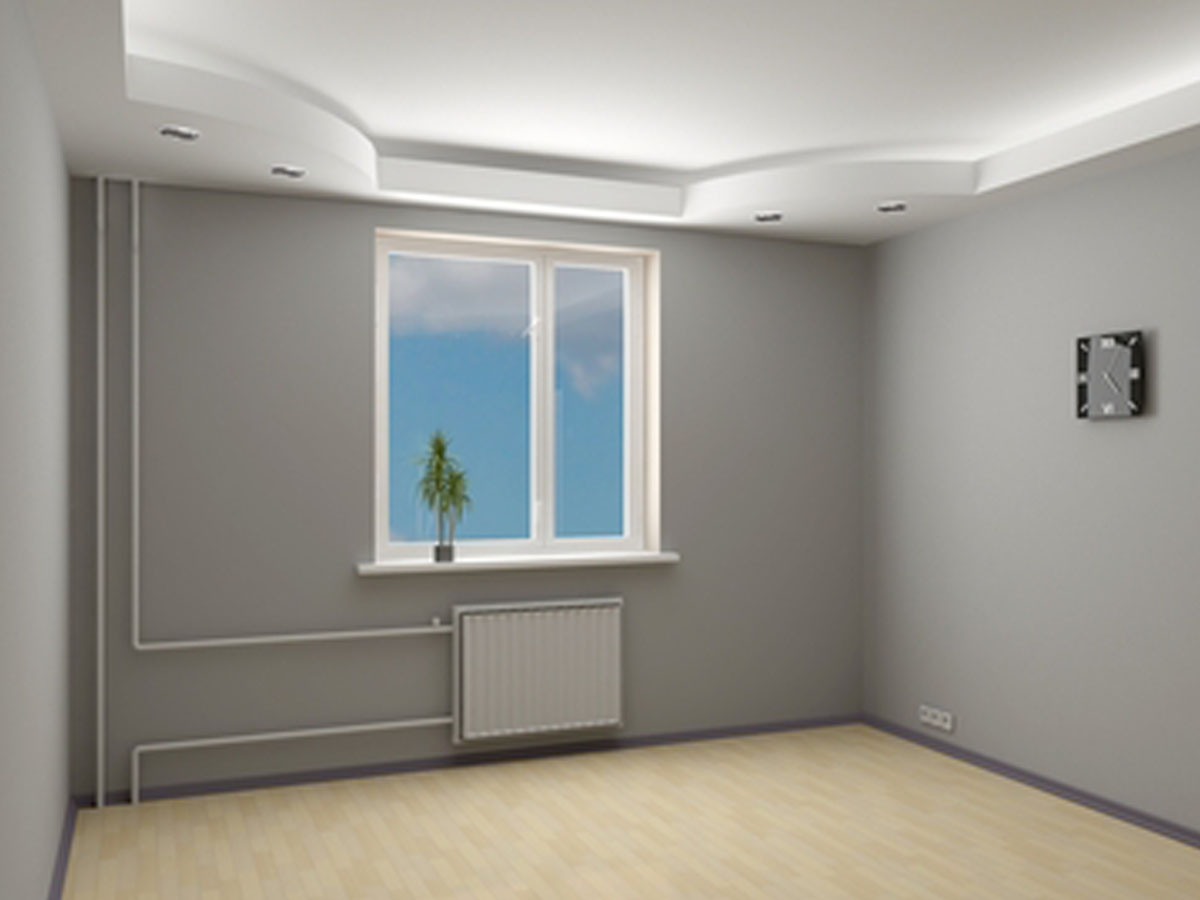 Дизайн гипсокартона у окна